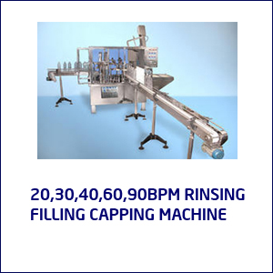 20,30,40,60,90 BPM RINSING FILING CAPPING MACHINE